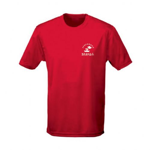 Stevenage Karate Red Breathable Training T-Shirt Junior